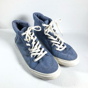 Old Navy High Top Sneakers Chambray Denim